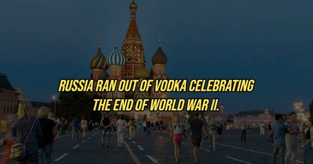 saint basil's cathedral - Russia Ran Out Of Vodka Celebrating The End Of World War Ii .