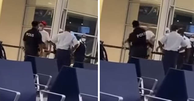 Dutch rapper Josylvio gets slapped by airport security