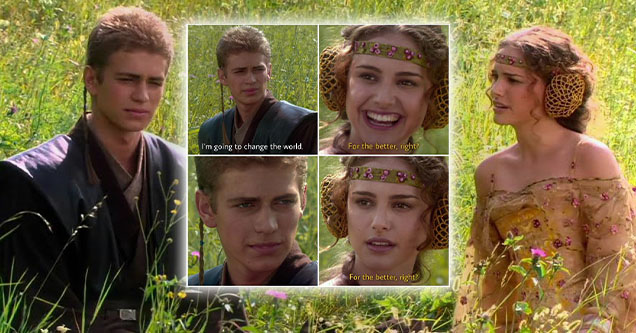 a new anakin and padme meme has exploded on the internet