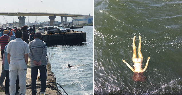 Japanee officials pull floating body from harbor, turns out it's just another sex doll