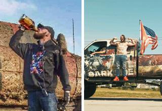redneck rave ad, drinking whiskey