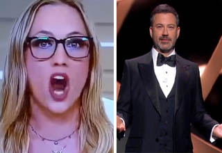 Kat Timpf on Fox News   Jimmy Kimmel at an awards show