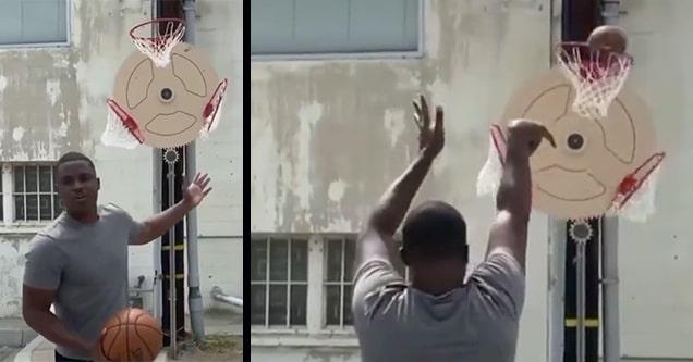 rotating basketball hoop
