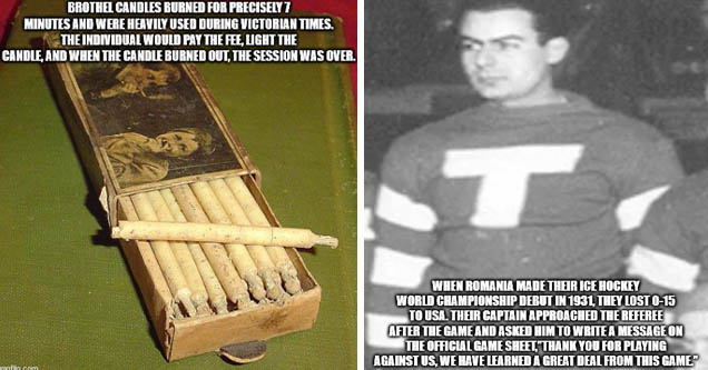 fact about brothel candles   fact about Romanian ice hockey team