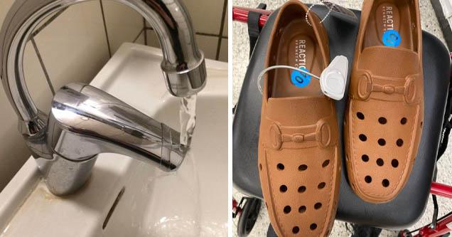 cursed tap   suede crocs