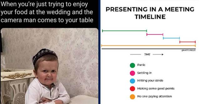 wedding cameraman meme   presenting in a meeting timeline