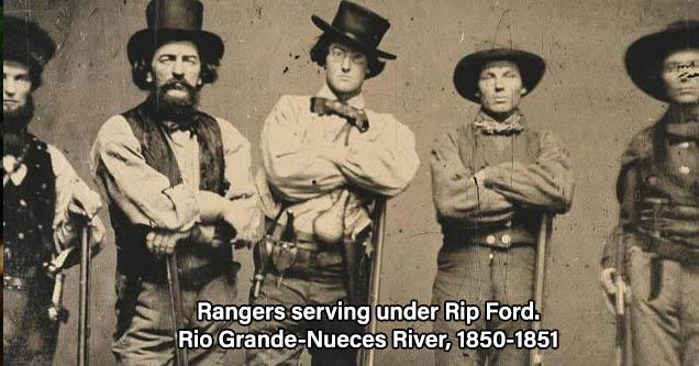 Rangers serving under Rip Ford. Rio Grande-Nueces River, 1850-1851
