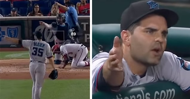 mlb pitcher marlins ejection
