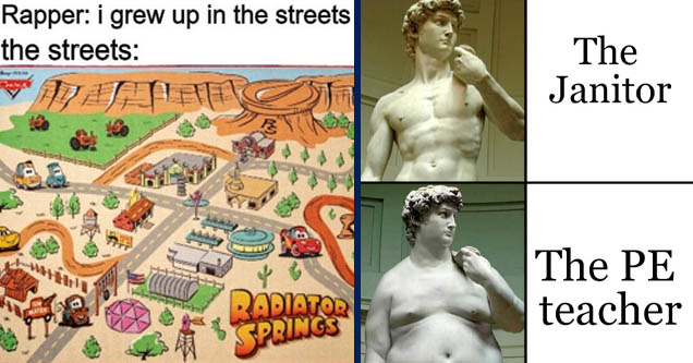 rapper streets meme | pe teacher vs janitor meme