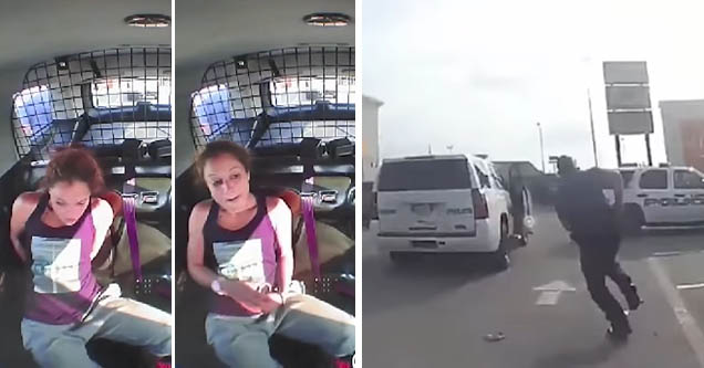Lufkin, TX woman breaks out of handcuffs and steals cop car after being arrested for shoplifting