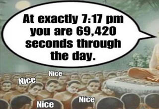 7:17 pm is 69,420 seconds through the day