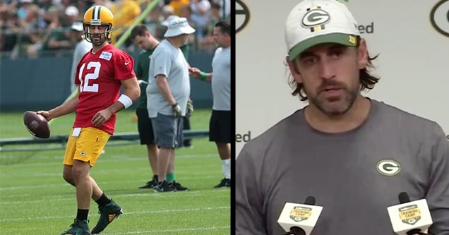 packers training camp aaron rodgers