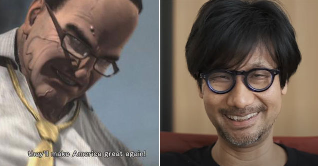 nine predictions Hideo Kojima make about the future in Metal Gear Solid 2 -  they're going to Make America Great Again