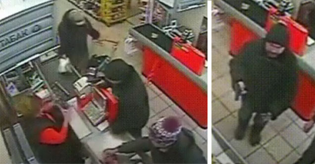 armed robber ignored by shoppers