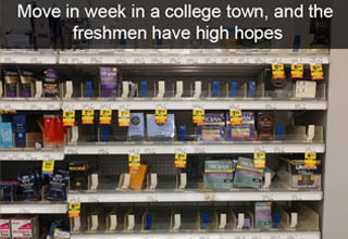 """These memes are the college experience in a nutshell. We just saved you four years and ~$100K or so. I went to a pretty fancy-pants school and here I am slinging <strong><a href=""""https://www.ebaumsworld.com/pictures/35-fresh-memes-of-the-dankest-kind/86961004/"""" target=""""_blank"""">memes</a></strong> for strangers online so let's just say it's a little overrated."""