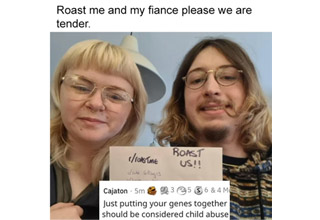"""These people decided to join in on the """"roast me"""" trend where reddit users share a picture of themselves holding up a sign that says <a href=""""https://www.ebaumsworld.com/tags/roasts/""""><b>/r/RoastMe</a></b>.  Now if there is one thing about people on the internet is that they are more than happy to tear people down and rip them to shreds.  These people found out the hard way that if you ask the internet to make fun of you, they'll happily oblige."""