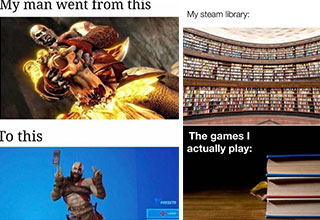 """If you're here looking for <a href=""""https://gaming.ebaumsworld.com/pictures/funny-memes-and-pics-from-the-games-that-we-play/86956041/""""><strong>memes</strong></a>, then you've come to the right place. <br><br> So sit back, relax, and scroll through a fresh set of <a href=""""https://gaming.ebaumsworld.com/pictures/funny-memes-and-pics-to-laugh-at/86955042/""""><strong>funny memes and pics</strong></a> from the games we play. <br><br> And before you go, check out: <a href=""""https://gaming.ebaumsworld.com/pictures/10-gaming-couples-that-give-us-swinger-vibes/86955696/""""><strong>Ten Iconic Couples That Give Us Swinger Vibes </strong></a>"""