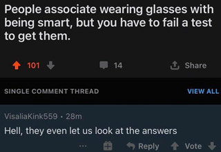 A collection of funny, wtf, and sarcastic replies to otherwise serious questions.