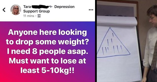 the office pyramid scheme