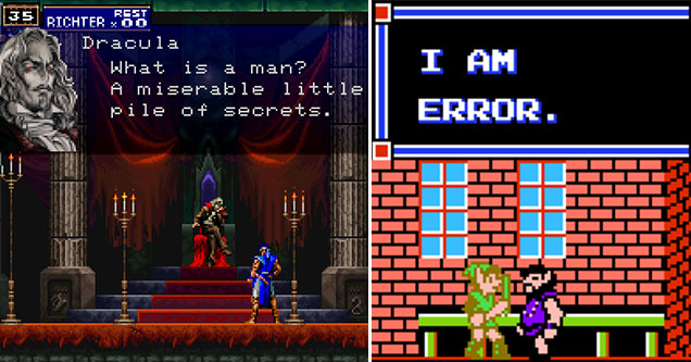 unforgettable quotes from NPC's -  Dracula  -  What is a man? A miserable little pile of secrets.  -  I am error
