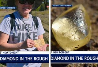 woman finds diamond in Arkansas Diamond Park