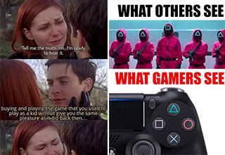 """Take a break from the day and scroll through a fresh set of <a href=""""https://gaming.ebaumsworld.com/pictures/29-gaming-pics-and-memes-that-will-level-you-up/86998316/""""><strong>funny memes and pics</strong></a> from the games that we play. <br><br> If you're looking for <a href=""""https://gaming.ebaumsworld.com/pictures/30-funny-memes-to-level-up-with/86996992/""""><strong>funny memes</strong></a>, then you've come to the right place.<br><br> And before you go, check out: <a href=""""https://gaming.ebaumsworld.com/pictures/10-weird-video-game-creatures-wed-kinda-like-to-eat-and-how-to-cook-them/86994111/""""><strong>10 Video Game Creatures We'd Like To Eat (And How We'd Cook Them) </strong></a>"""
