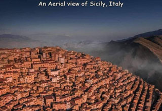 badlands - An Aerial view of Sicily, Italy Ted Who