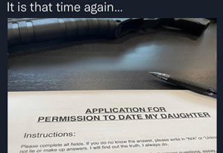 water resources - It is that time again... Application For Permission To Date My Daughter Instructions Please complete all fields. If you do no know the answer, please write in Nia