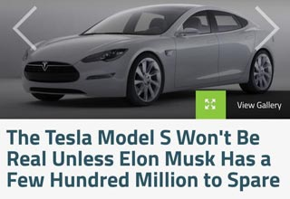 a post about tesla not being real