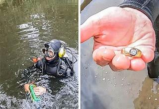 wedding ring found diving