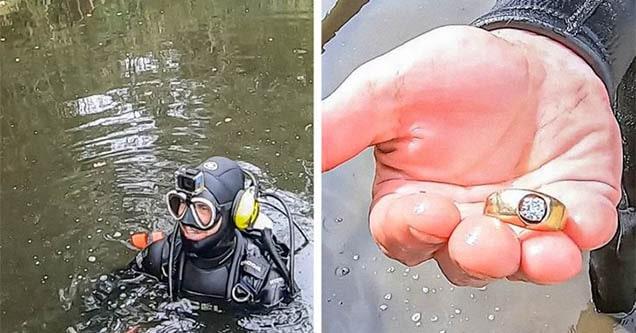 diver finds wedding ring