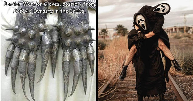 scream mask and claws