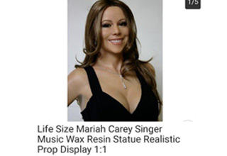 a life size mariah carey doll being sold online