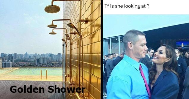 golden shower and john cena