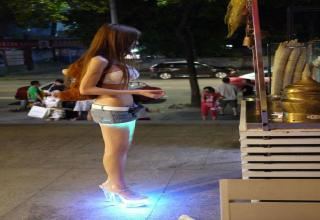 Naomi Wu, 23, is a specialist in the field of cybernetics and 3D-printing. She has printed out a mini-bikini and has been testing it by walking in it along the Shenzhen's streets