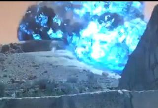 bunker buster blue explosion