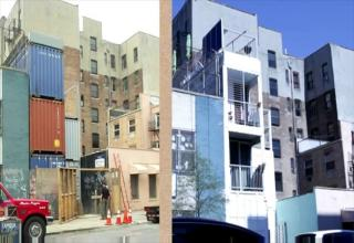 apartment in Brooklyn, NY is built from shipping containers.