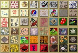 Different blotter art and designs