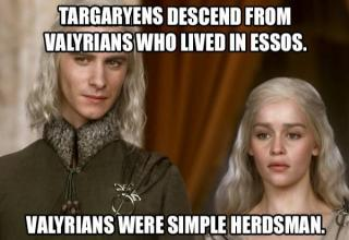 An interesting look into the history and lore of The Targaryens.