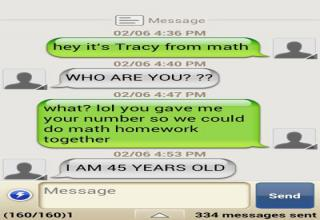 "Funny and creative responses to ""wrong number"" text messages."
