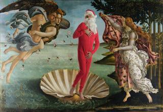 Santa in classic works of art