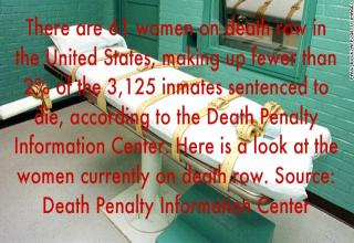 There are 61 women on death row in the United States, making up fewer than 2 percent of the 3,125 inmates sentenced to die, according to the Death Penalty Information Center. Here is a look at the women currently on death row. Source: Death Penalty Information Center
