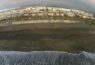 Flower of Life mural painted by Justin Kerson at San Francisco's Ocean Beach. Photos by Jamy Donaldson.