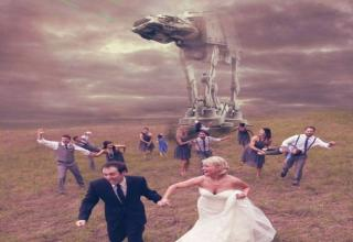 Selection of funny wedding pictures.