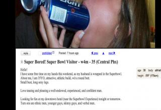 Hilarious Craigslist Posts From People Trying to Get Laid at the Super Bowl