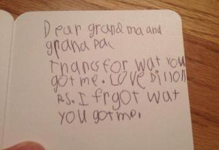 13 hilarious thank you notes from kids that will make you laugh.