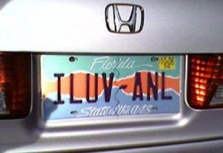 Some people wear their heart on their sleeve, these folks wear it on their license plates.