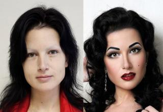 For most of these women having makeup on makes a huge difference...