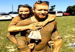 """Texas girl went blind in her eye after flesh-eating bacteria seeped its way into a cut during a """"Mud Run"""" e"""