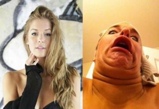 "Beautiful girls making ""thumb"" faces"